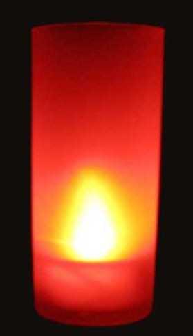 Bougies à LED RGB avec son Photophore