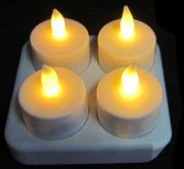lot de 4 bougies led rechargeables achat prix pas cher. Black Bedroom Furniture Sets. Home Design Ideas
