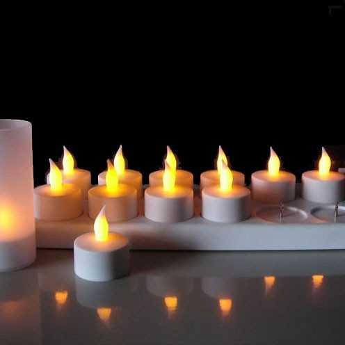 Lot de 12 Bougies à LED rechargeables