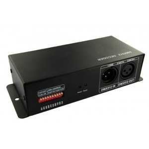 Contrôleur DMX 512 pour Strip LEDs RGB