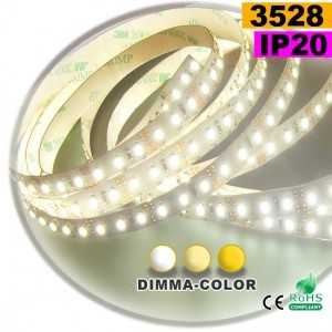 ruban led dimma color 3528 ip20 120leds m 10m achat prix. Black Bedroom Furniture Sets. Home Design Ideas
