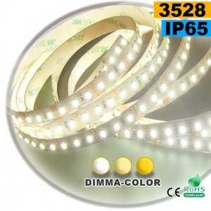 Ruban Led dimma-color 3528 ip65 120leds/m sur mesure