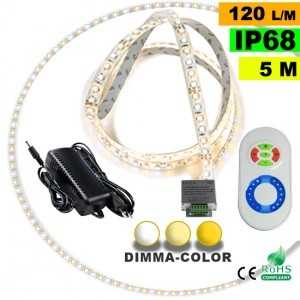 Pack Ruban Led 5m Dimma Color 3528 ip68 120 leds