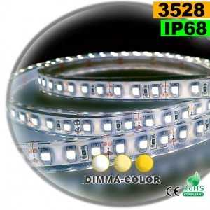 Ruban Led dimma-color 3528 ip68 120leds/m 5m