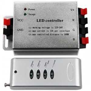 Contrôleur RGB télécommande radio fréquence 4 touches