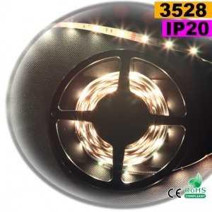 Ruban Led blanc SMD 3528 IP20 30leds/m sur mesure
