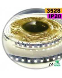 Ruban Led blanc SMD 3528 IP20 120leds/m sur mesure