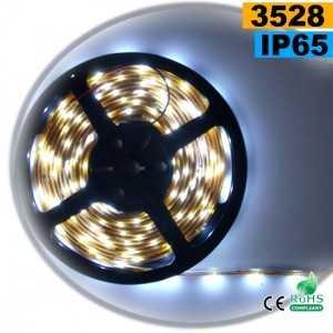 Ruban Led blanc SMD 3528 IP65 30leds/m sur mesure