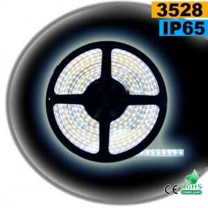 Ruban Led blanc SMD 3528 IP65 120leds/m sur mesure