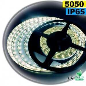 Ruban Led blanc SMD 5050 IP65 60leds/m sur mesure