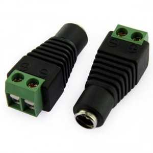 Raccord femelle Jack 2.5 mm pour connection Strip LED