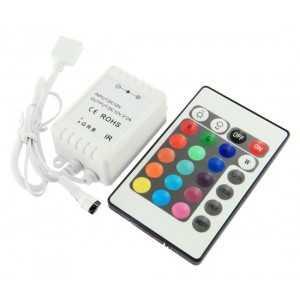 Controleur RGB 12V / 6A Télécommande 24 touches Infra Rouge