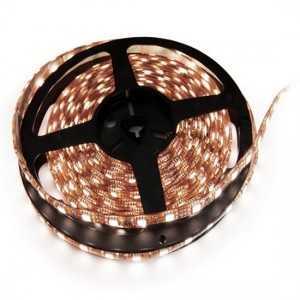 Ruban 60 LEDs Blanc rouleau flexible autocollant de 5m