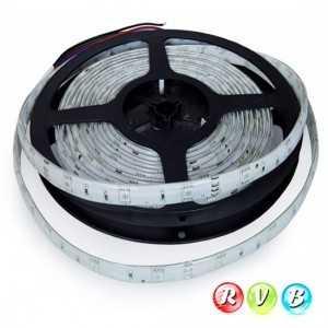 Ruban 30 LEDs RVB rouleau flexible autocollant de 5m