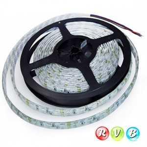 Ruban 60 LEDS RVB rouleau flexible autocollant de 5m