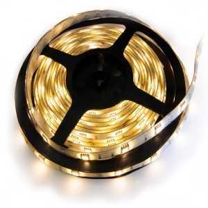 Strip 30 LEDS Blanc Chaud rouleau flexible autocollant de 5m