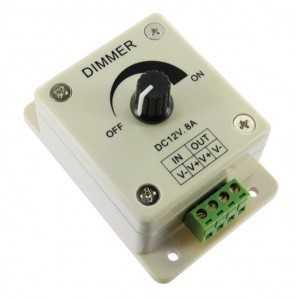 Variateur d'intensité lumineuse rotatif dimmer - 96 watts