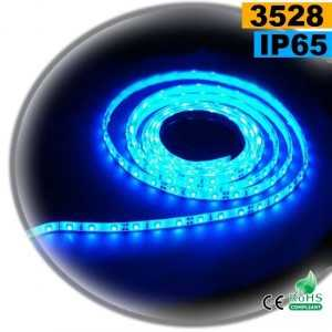Ruban Led bleu SMD 3528 IP65 60leds/m 5m