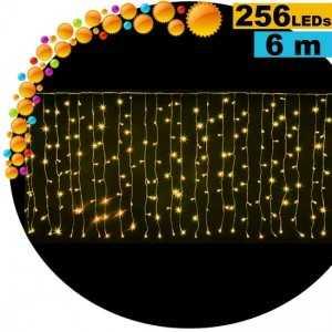 Guirlande rideau lumineux 256 LEds soleil 6m