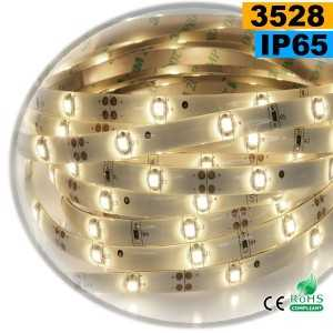 Ruban Led blanc chaud leger SMD 3528 IP65 30leds/m sur mesure