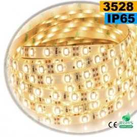 Ruban Led blanc chaud leger SMD 3528 IP65 60leds/m sur mesure
