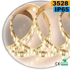 Ruban Led blanc chaud leger SMD 3528 IP65 120leds/m sur mesure