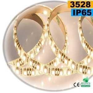 Ruban Led blanc chaud leger SMD 3528 IP65 120leds/m sur mesure