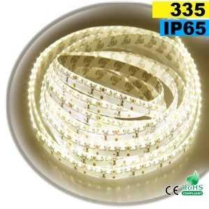 Ruban Led latérale blanc chaud léger LEDs-335 IP65 120leds/m sur mesure