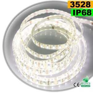 Ruban Led blanc SMD 3528 IP68 60leds/m sur mesure