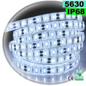 Ruban Led blanc SMD 5630 IP68 60leds/m sur mesure