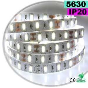 Ruban Led blanc SMD 5630 IP20 60leds/m sur mesure
