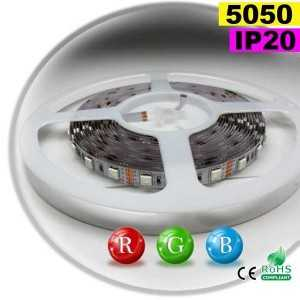Ruban Led RGB SMD 5050 IP20 60leds/m rouleau sur mesure