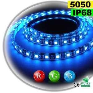 Ruban Led RGB SMD 5050 IP68 60leds/m rouleau sur mesure