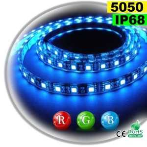 Ruban Led RGB SMD 5050 IP68 60leds/m rouleau sur mesure