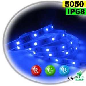 Ruban Led RGB SMD 5050 IP68 30leds/m rouleau de sur mesure