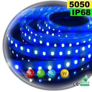 Ruban Led RGB-W IP68 60leds/m SMD 5050 sur mesure