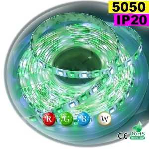 Ruban Led RGB-W IP20 60leds/m SMD 5050 sur mesure