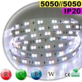 Ruban EDs RGB-W IP20 - Double assemblage juxtaposer de LEDs 5050 sur mesure