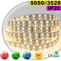 Ruban LEDs RGB-WW IP20 - Double assemblage de LEDs 5050 et 3528 sur mesure