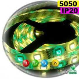 Ruban Led RGB-WW IP20 60leds/m SMD 5050 sur mesure