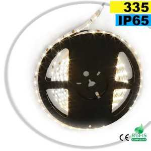 Ruban Led latérale blanc chaud léger LEDs-335 IP65 60leds/m sur mesure