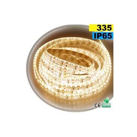 Ruban Led latérale blanc chaud LEDs-335 IP65 120leds/m sur mesure