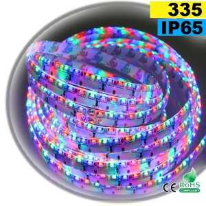 Ruban Led latérale SMD 335 RGB - IP65 120leds/m 5m
