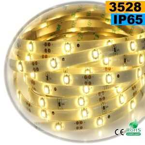 Ruban Led blanc chaud SMD 3528 IP65 30leds/m sur mesure