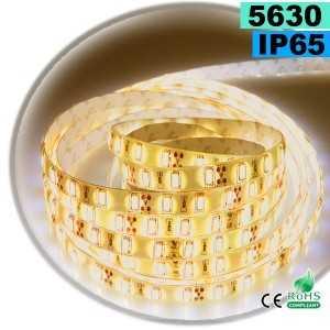 Ruban Led blanc chaud SMD 5630 IP65 60leds/m sur mesure