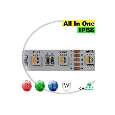 "Ruban Strip LEDs RGB-W IP68 - LED ""All in one"" 5 mètres"